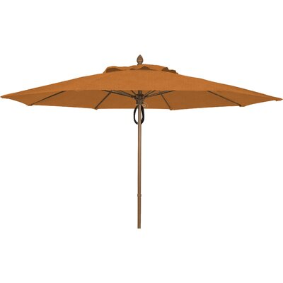11 Prestige Canopy Octagonal Market Umbrella Frame Finish: White, Fabric: Tan