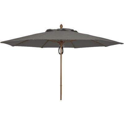 11 Prestige Canopy Octagonal Market Umbrella Fabric: Charcoal Grey, Frame Finish: White