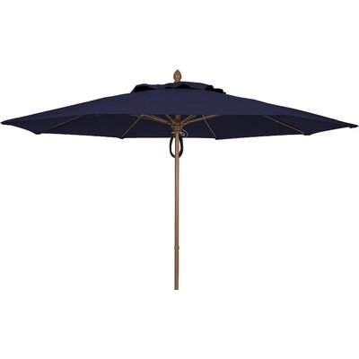 11 Prestige Canopy Octagonal Market Umbrella Fabric: Captain Navy, Frame Finish: White