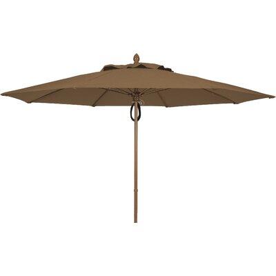 11 Prestige Canopy Octagonal Market Umbrella Fabric: Cocoa, Frame Finish: White