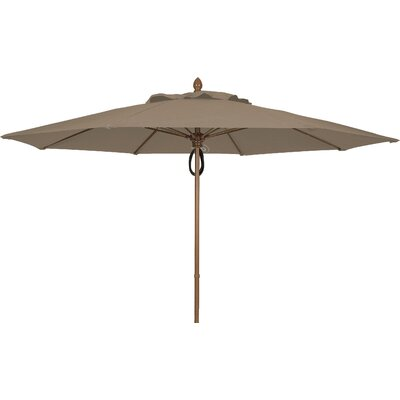 11 Prestige Canopy Octagonal Market Umbrella Fabric: Taupe, Frame Finish: White