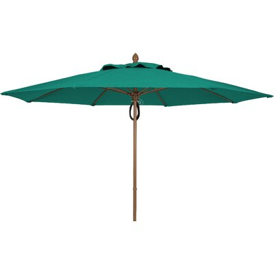 11 Prestige Canopy Octagonal Market Umbrella Frame Finish: Champagne Bronze, Fabric: Teal