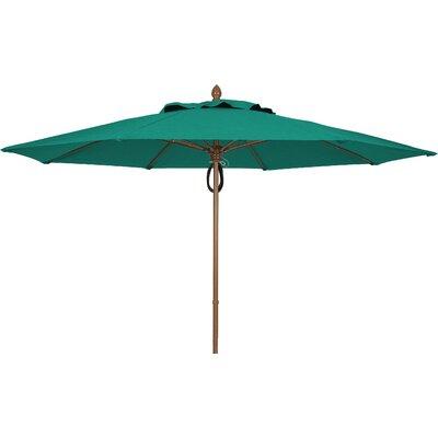11' Prestige Canopy Octagonal Market Umbrella Frame Finish: White, Fabric: Teal