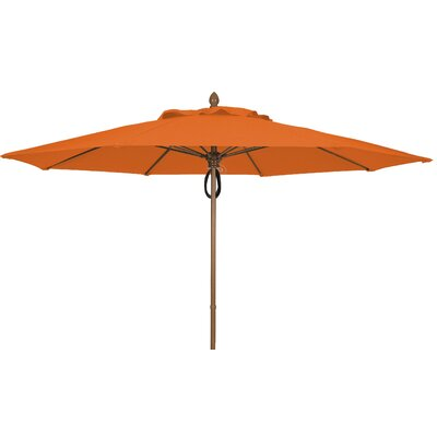 11 Prestige Canopy Octagonal Market Umbrella Frame Finish: White, Fabric: Tuscan