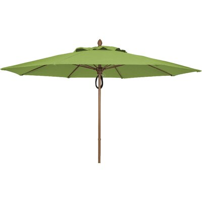 11 Prestige Canopy Octagonal Market Umbrella Frame Finish: Champagne Bronze, Fabric: Palm