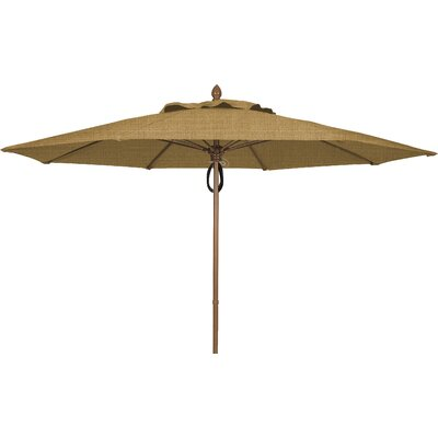 11 Prestige Canopy Octagonal Market Umbrella Frame Finish: White, Fabric: Silica Barley