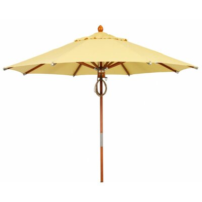 11' Prestige Wood Canopy Octagonal Market Umbrella Fabric: Buttercup