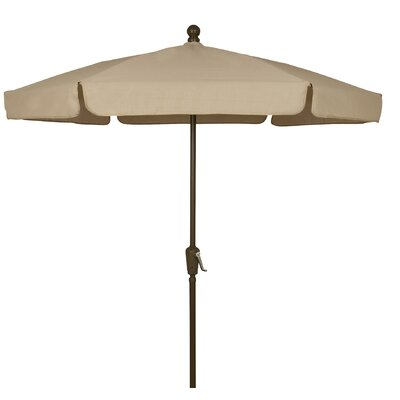 7.5 Leonard Garden Canopy Octagonal Drape Umbrella Frame Finish: White, Fabric: Pacific Blue