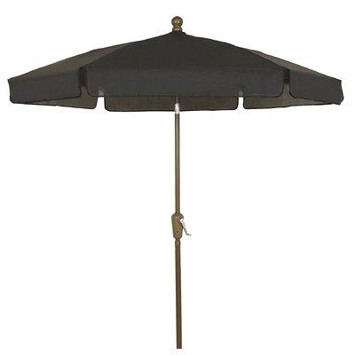 7.5 Leonard Garden Canopy Octagonal Drape Umbrella Frame Finish: Champagne Bronze, Fabric: Black