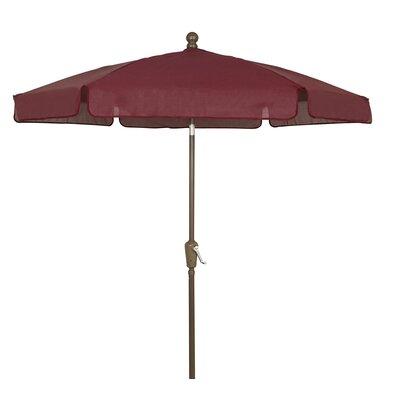 7.5 Leonard Garden Canopy Octagonal Drape Umbrella Frame Finish: Champagne Bronze, Fabric: Burgundy