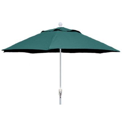 7.5 Leonard Canopy Octagonal Market Umbrella Frame Finish: White, Fabric: Forest Green
