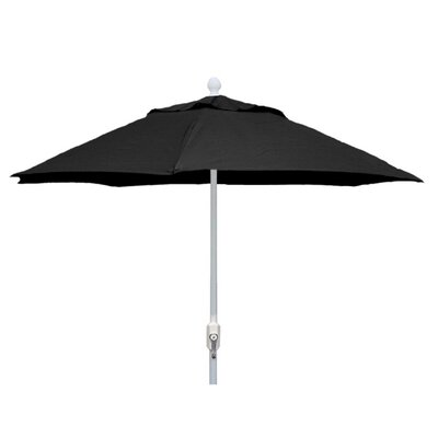 7.5 Leonard Canopy Octagonal Market Umbrella Fabric: Black, Frame Finish: Champagne