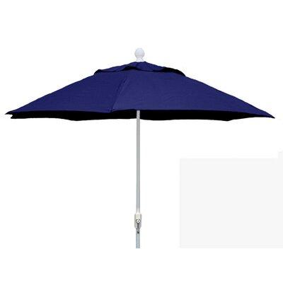 7.5 Leonard Home Patio Canopy Octagonal Market Umbrella Fabric: Navy Blue, Frame Finish: White