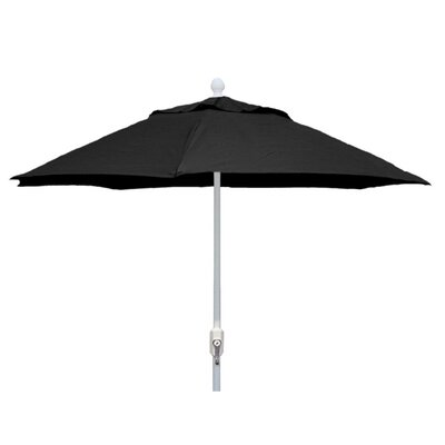 7.5 Leonard Home Patio Canopy Octagonal Market Umbrella Frame Finish: Champagne Bronze, Fabric: Forest Green