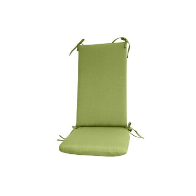 Outdoor Rocking Chair Cushion Color: Green