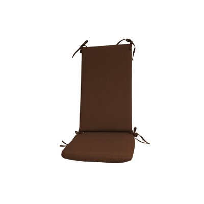 Outdoor Rocking Chair Cushion Color: Brown