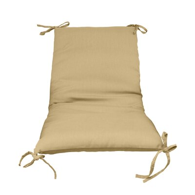Outdoor Lounge Chair Cushion Color: Beige