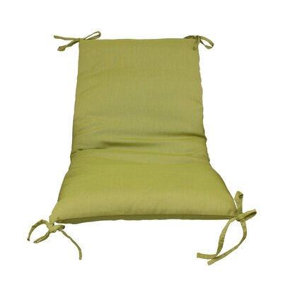 Outdoor Lounge Chair Cushion Color: Green