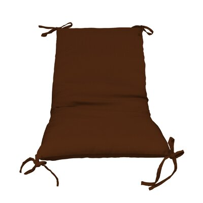 Outdoor Lounge Chair Cushion Color: Brown