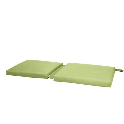 Hinge Outdoor Bench Cushion Color: Green