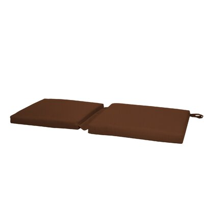 Hinge Outdoor Bench Cushion Color: Brown