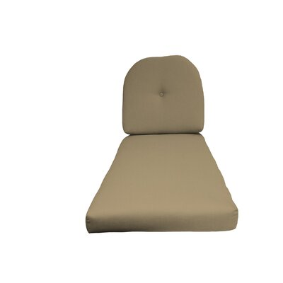 NC Outdoor Chaise Lounge Cushion Color: Beige