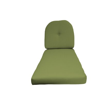 NC Outdoor Chaise Lounge Cushion Color: Green