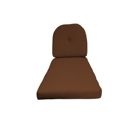 NC Outdoor Chaise Lounge Cushion Color: Brown