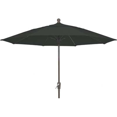 7.5 Leonard Canopy Octagonal Market Umbrella Frame Finish: White, Fabric: Black