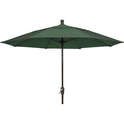 7.5 Leonard Canopy Octagonal Market Umbrella Fabric: Forest Green, Frame Finish: Champagne