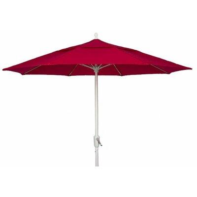 Fiberbuilt 7' Prestige Market Umbrella - Frame Finish: White, Fabric: Buttercup