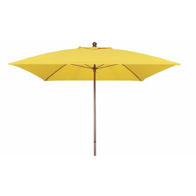7.5 Prestige Canopy Square Market Umbrella Frame Finish: White, Fabric: Sunflower Yellow