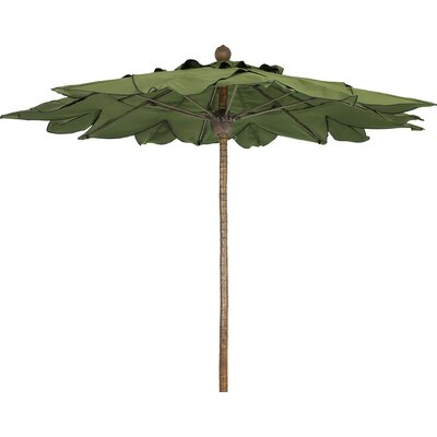 9' Prestige Palm Canopy Octagonal Market Umbrella Fabric: Charcoal Grey