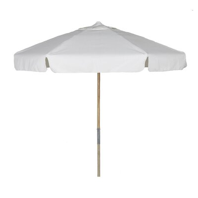 7 Prestige Canopy Hexagonal Beach Umbrella Fabric: Silica Barley