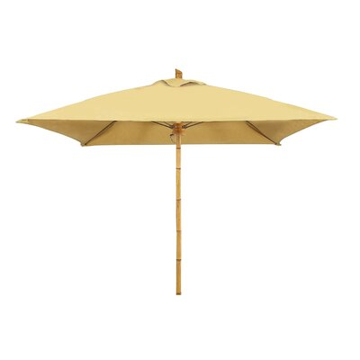 7.5 Prestige Canopy Square Bambusa Market Umbrella Fabric: Palm