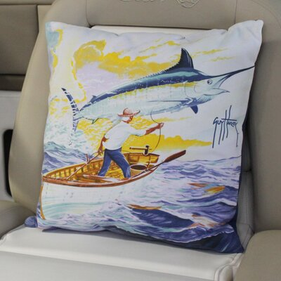 Guy Harvey Old Man Throw Pillow