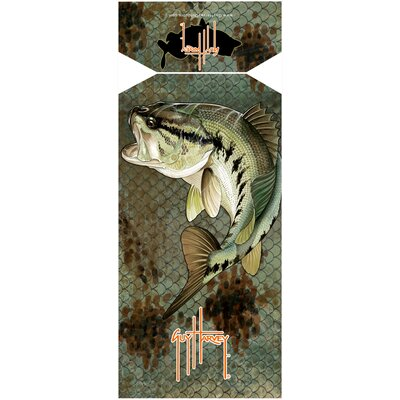Guy Harvey Bass Camo Beach Towel