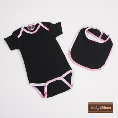 Gift Set in Black and Pink Camouflage Size: 3-6 Months