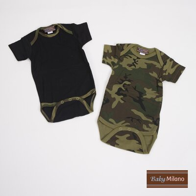 Infant Bodysuit Gift Set in Green Camouflage Size: 0-3 Months