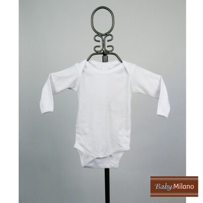 Baby Milano Long Sleeve Infant Bodysuit in White - Size: 3-6 Months at Sears.com