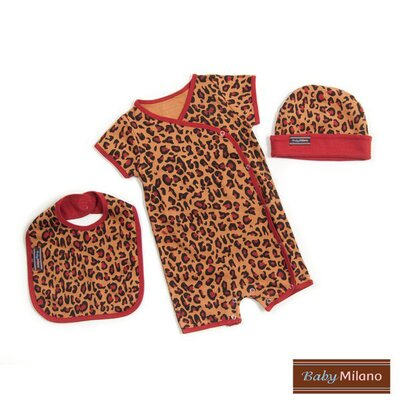Baby Milano Designer Baby Clothes Gift Set in Leopard Print - Size: 0-3 Months at Sears.com