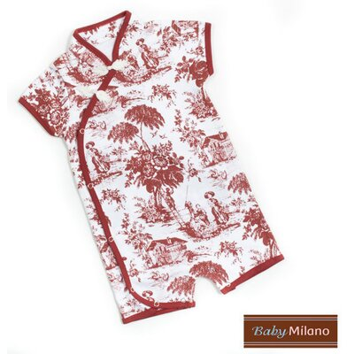 Baby Milano Toile Kimono Infant Bodysuit in Burgundy and White - Size: 3-6 Months at Sears.com