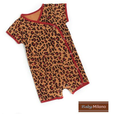 Baby Milano Kimono Infant Bodysuit in Leopard Print - Size: 12-18 Months at Sears.com