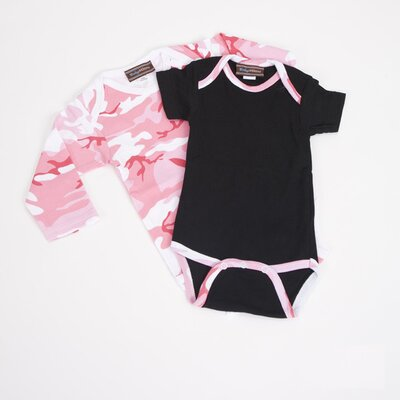Infant Bodysuit Gift Set in Pink Camo Size: 0-3 Months