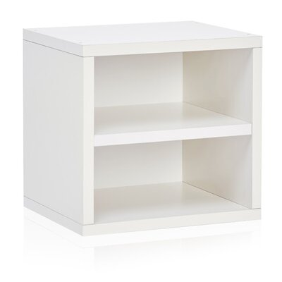 "Connect Shelf Eco Stackable Cubby Organizer 13.4"" Cube Unit Bookcase Finish: Aspen White"