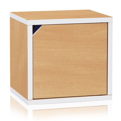 Bolan Door Eco Stackable Cubby Organizer Cube Unit Bookcase Finish: Natural/White