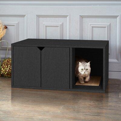 Modern Litter Box Enclosure Color: Black