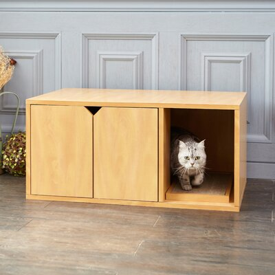 Modern Litter Box Enclosure Color: Natural