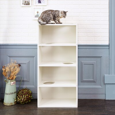 49 4-Shelf Cat Tree Color: Aspen White
