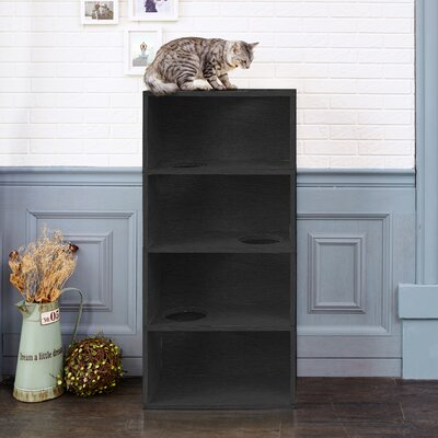 49 Nowlin 4-Shelf Cat Tree Color: Black